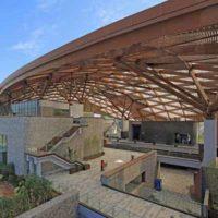 Гигантский стальной навес для музея садового искусства в Наньнине (Китай)