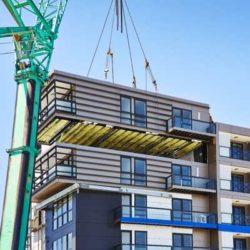 В Москве строят экспериментальное модульное жилое здание