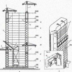 Технологические схемы возведения высотных зданий