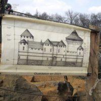 Строительство замка Геделон во Франции