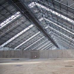 О технологии строительства складов промышленных материалов
