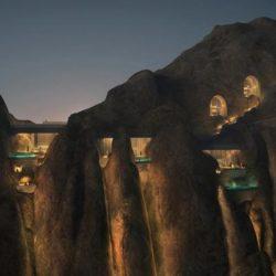 В Саудовской Аравии строят необычный отель в горах