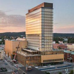 В Швеции завершено строительство одного из самых высоких деревянных зданий в мире